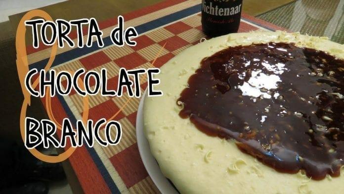 Torta de Chocolate Branco - Com Calda de Cerveja - Canal Rango