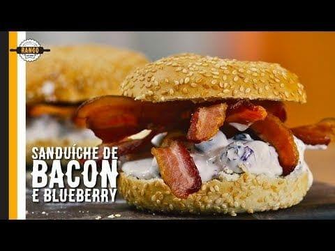 Sanduíche de Bacon, Cream Cheese e Blueberry - Canal Rango