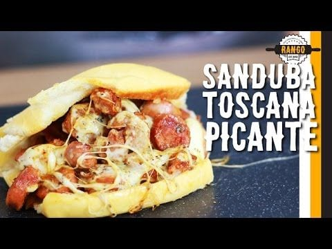 Sanduíche Picante de Linguiça Toscana. Feat. Minimim (Mini Cozinha) - Canal Rango