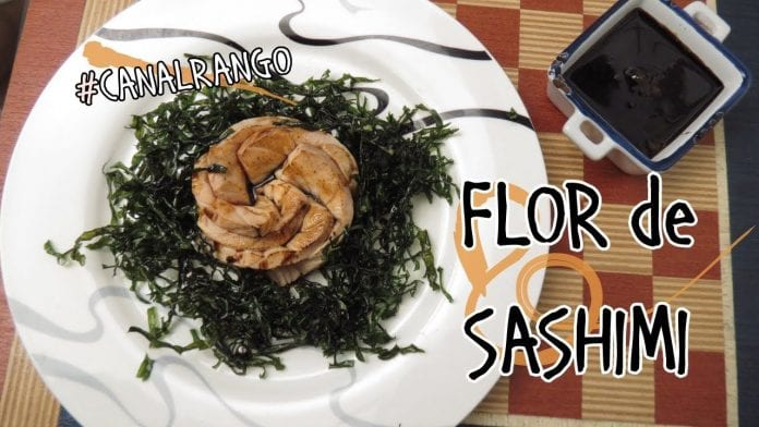 Sashimi com Couve Crispy - Canal Rango