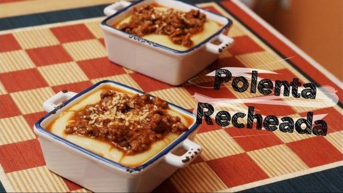 Como Fazer Polenta - Recheada com Provolone! - Canal Rango