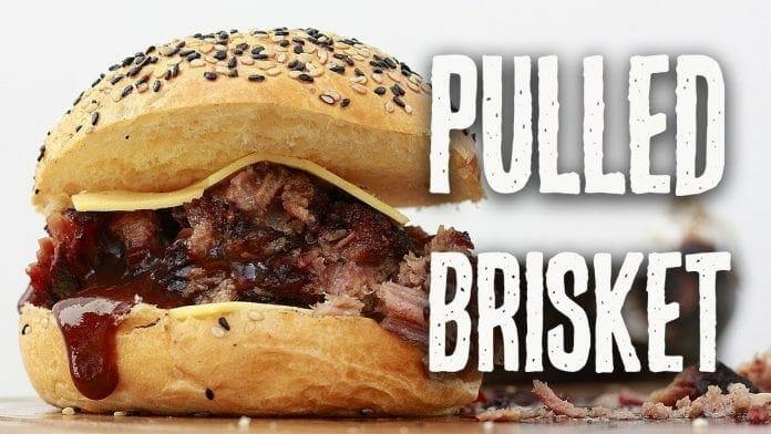 Sanduíche de Peito Bovino - Pulled Brisket - Canal Rango