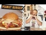 Hambúrguer com Pasta de Amendoim - Peanut Burger - Canal Rango