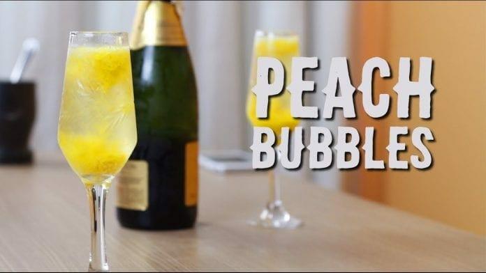 Peach Bubbles - Drink Especial de Ano Novo - Canal Rango