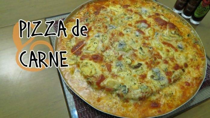 Como Fazer Pizza de Carne! - Canal Rango