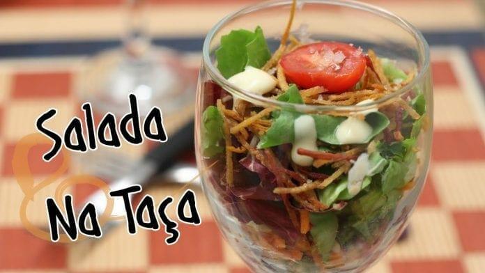 Salada Rapida na Taça - Canal Rango