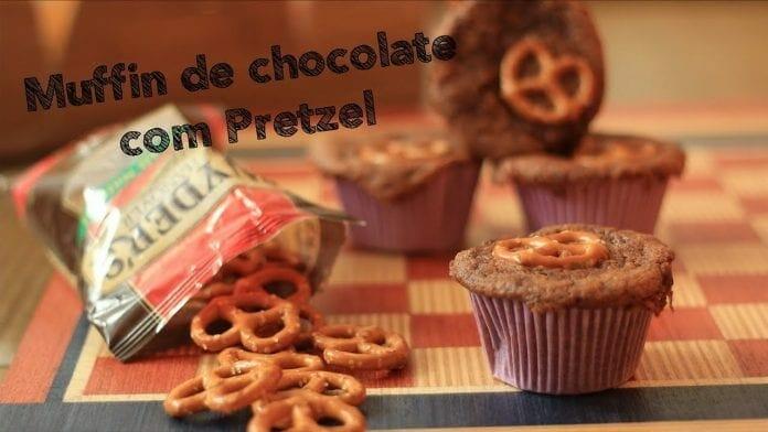 Muffin de Chocolate com Pretzel - Bistrobox - Canal Rango