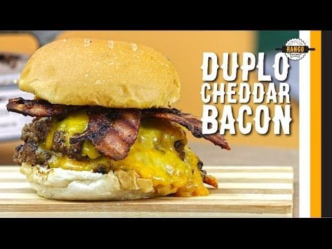 Hambúrguer Duplo de Cheddar com Bacon Caramelizado - Canal Rango