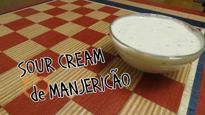 Sour Cream com Manjericão - Creme Azedo - Canal Rango