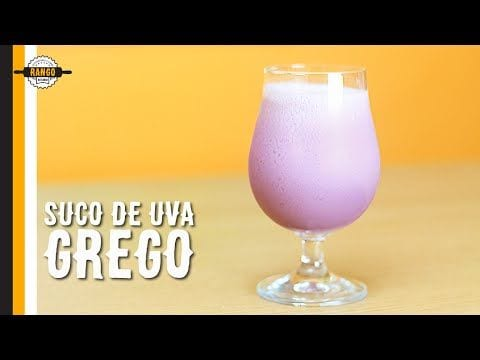 Suco de Uva com Iogurte e água de Coco - Canal Rango