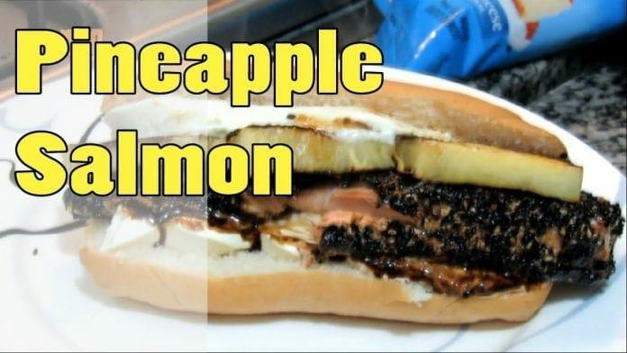Sanduíche de Abacaxi com Salmão! Pineapple Salmon! - Canal Rango