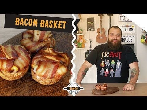 Cestas de Bacon com Ovo e Queijo - Bacon Basket - Canal Rango
