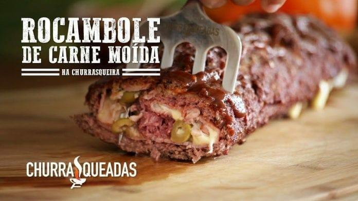 Rocambole de Carne Moída - Churrasqueadas
