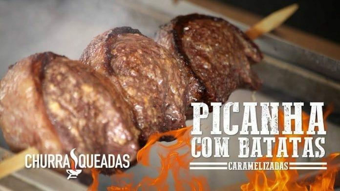 Picanha com Alho e Batatas Caramelizadas - Churrasqueadas