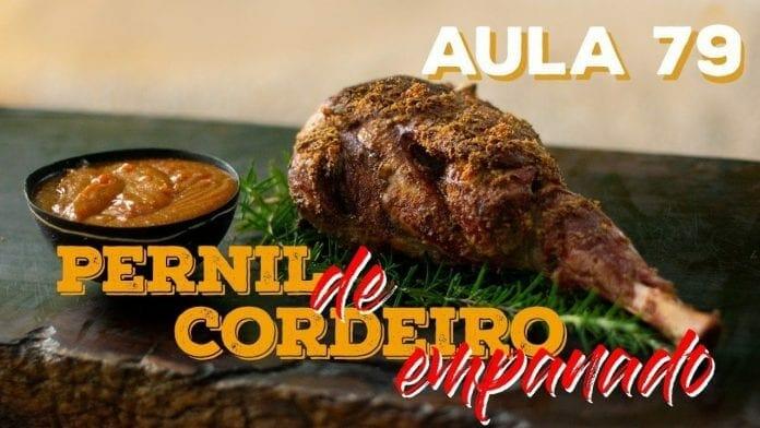 Pernil de Cordeiro Empanado (Como Fazer Cordeiro Empanado) - Cansei de Ser Chef