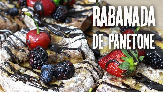 A Melhor Rabanada de Panetone do Mundo - Com Frutas e Chocolate - Canal Rango