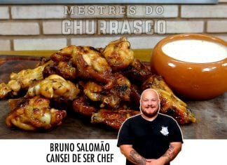 Buffalo Wings com Molho Ranch (Asinhas de Frango Apimentadas) Cansei de Ser Chef - Mestres do Churrasco