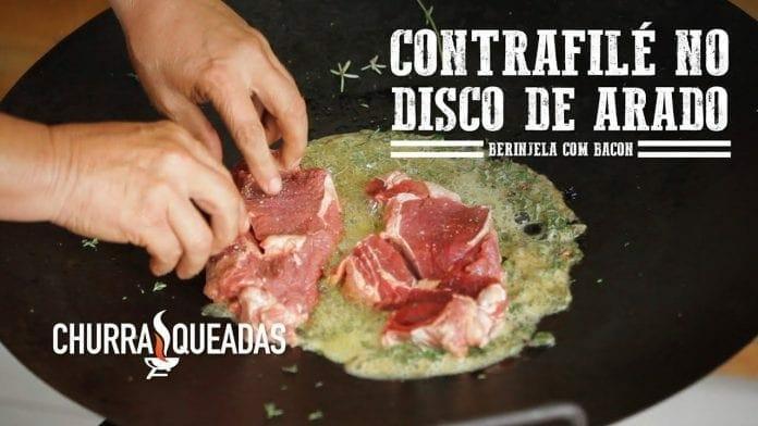 Contrafilé na Manteiga no Discão de Arado e Fogão Campeiro Don Forno - Churrasqueadas