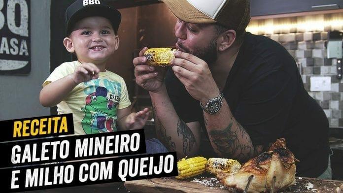 Galeto Mineiro no Espeto e Milho com Queijo - BBQ em Casa