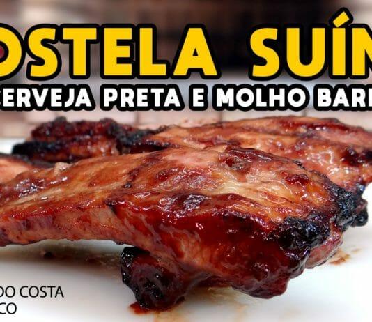 Costela Suína na Cerveja Preta e Molho Barbecue - Tv Churrasco - Mestres do Churrasco