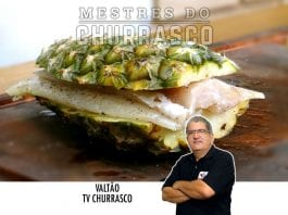 Merluza no Abacaxi com Batatas e Doce de Abacaxi na Churrasqueira - Tv Churrasco - Mestres do Churrasco-Site