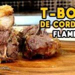 Como Fazer T-Bone de Cordeiro Flambado - Tv Churrasco - Mestres do Churrasco