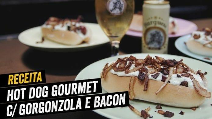 Hot Dog Gourmet com Creme de Gorgonzola e Cerveja Burguesa - BBQ em Casa