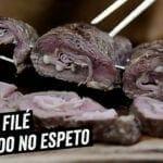 Contra Filet Recheado no Espeto - BBQ em Casa