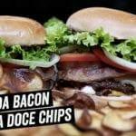 X-Salada Bacon com Chips de Batata Doce - BBQ em Casa