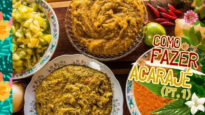 Égua Doido - Como Fazer Acarajé (Como Fazer Caruru, Vatapá, Molho de Pimenta e Salada de Tomate) - Cansei de Ser Chef