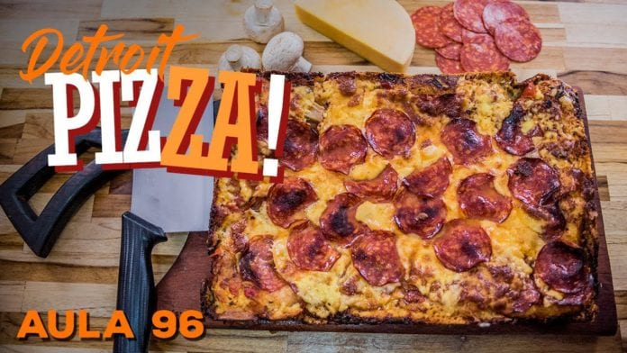 Detroit Pizza (Receita de Pizza de Forno Perfeita) - Cansei de Ser Chef