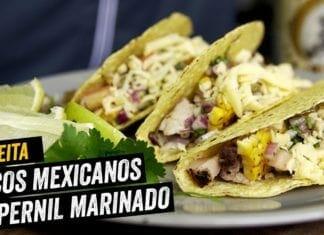 Tacos Crocantes de Pernil Marinado na Cerveja - BBQ em Casa