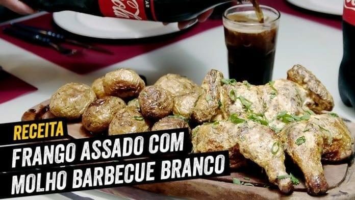 Frango Assado com Molho Barbecue Branco - BBQ em Casa