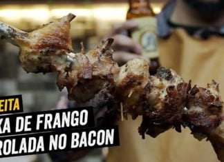 Coxa de Frango Marinada na Cerveja Enrolada no Bacon - BBQ em Casa
