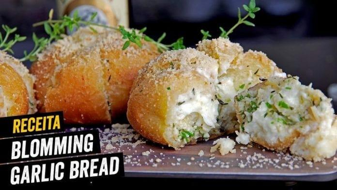 Blooming Garlic Bread - O Pão de Alho Coreano - BBQ em Casa