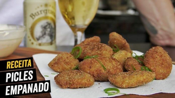 Picles Empanado (Fried Pickles) - BBQ em Casa