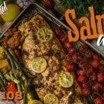 Salmão Assado (Como Fazer Salmão com Manteiga de Ervas e Limão) - Cansei de Ser Chef